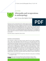 Aftermaths and Recuperations in Anthropology
