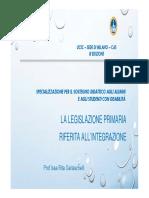 UCSC CAS 2017-2018 - Milano - Garlaschelli - Legislazione Primaria - DSA