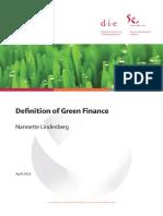Definition Greenfinance