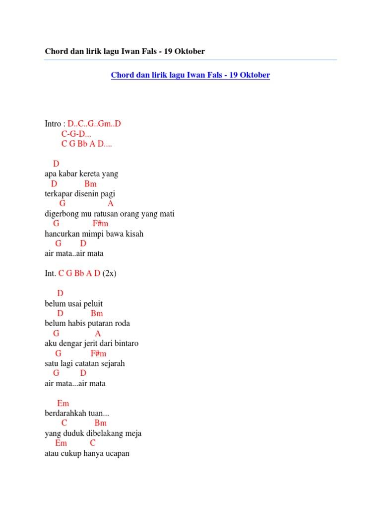 Lirik Lagu Jerit Roda Kereta