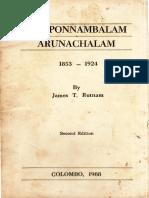 Sir Ponnambalam Arunachalam 1853-1924