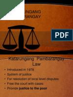 Katarungang Barangay