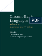 (Studies in Language Companion Series 55) Östen Dahl, Maria Koptjevskaja-Tamm-Circum-Baltic Languages_ Typology and Contact, Volume 2_ Grammar and Typology-John Benjamins Publishing Company (2001)