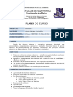 Plano de Curso - Estruturas I UFBA - FAU