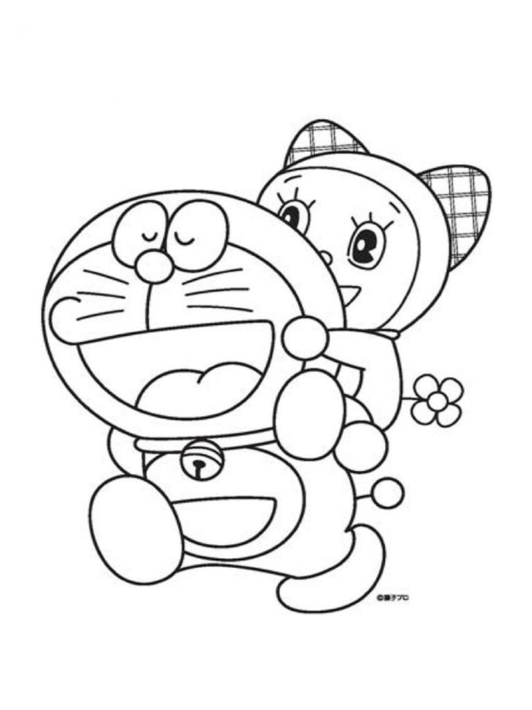 Gambar Mewarnai Doraemon Gambarmewarnaicom T