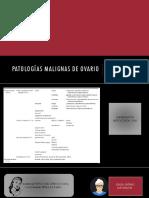 Imagenologia de patologías malignas de ovario