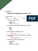 6) Examen Escrito Desarrollado Camion Cat 793d