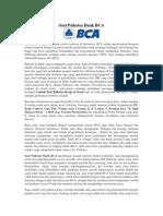 Soal Psikotes Bank BCA