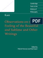 Kant, Immanuel - Observations on the Feeling of the Beautiful & Sublime (Cambridge, 2011).pdf