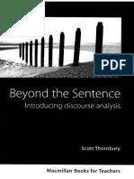 Thornbury s Beyond the Sentence Introducing Discourse Analys (1)