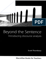 Thornbury s Beyond the Sentence Introducing Discourse Analys (1)