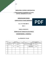 Especificaciones Tecnicas de Fabricación Tanque Empernado