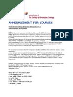 SSPC PCI Flyer-4th - 9th Nov 2017