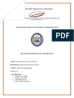 Auditoria Gubernamental Componentes de La Auditoria