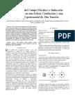 Medición del Campo Eléctrico e Inducción Magnética en una Esfera Conductora y una Línea Experimental de Alta Tensión