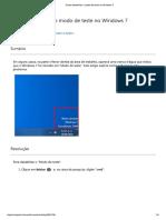 Como Desabilitar o Modo de Teste No Windows 7
