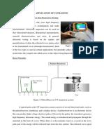 Application of Ultrasonics