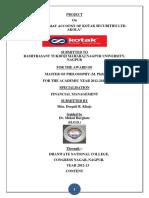 FINAL MPHIL PROJECT ON DMAT KOTAK.docx