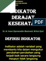 1. Indikator Derajat Kesehatan