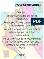 prayer for our communities