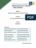 ENE 2-1 Construcción de Un Colector Solar Xx