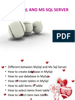 The Mysql and Ms SQL Server