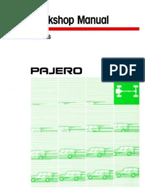 2000 MITSUBISHI MONTERO PAJERO Service Repair Manual pdf