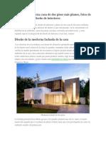 Diseño de Moderna Casa de Dos Pisos Más Planos