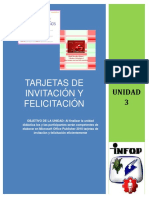 Unidad 3-Tajetas de Invitacion y Felicitacion