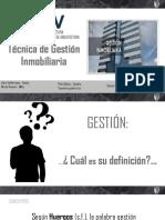 GESTION INMOBILIARIAS