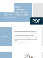 adult nutritional implications of maple syrup urine disease