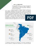 Qué Es El Mercosur