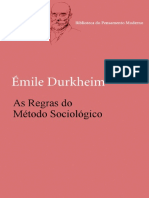 As Regras Do Metodo Sociologico - Emile Durkheim