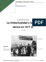 Mandel, David. La Intelectualidad y La Clase Obrera en 1917 (I)