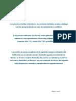 Tarifas Vigentes Servicio Telefonico Basico Feb15