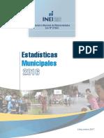 Estadísticas Municipales 2016 INEI