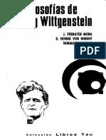 Ferrater Mora Jose - Las Filosofias de Ludwig Wittgenstein