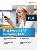 First Steps in SAP Controlling Sample