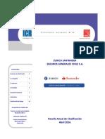 Zurich Santander Generales - Reseña Anual de Clasificación - Abril 2016