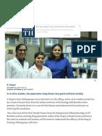 IIT Roorkee Repurposes a Drug for Chikungunya - The Hindu