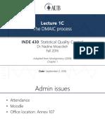 Lecture 1c - Dmaic