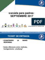 Escuela Para Padres Septiembre II Ciclo