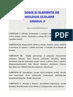 Pedagogie și elemente de psihologie școlară - GRADUL II.doc