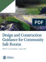 FEMA P 361 Community Safe Room
