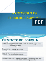 PROTOCOLO PRIMEROS AUXILIOS