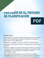 Previsión en El Proceso de Planificación
