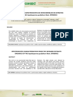 Artigo Caracterização de Espectroscopia de Infravermelho de Extratos