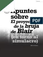 Apuntes Sobre El Proyecto de La Bruja de Blair