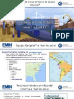 CDT Seminario Mejoramiento de Suelos y Cimentaciones Especiales Marcelo Garrido Iván Cañete Emin Sistemas Geotécnicos1