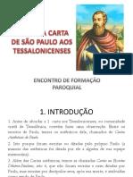 Primeira Carta de São Paulo Aos Tessalonicenses